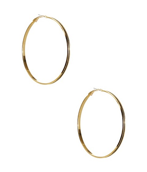 Bijuterii Femei GUESS Gold-Tone Glitter Hoop Earrings gold