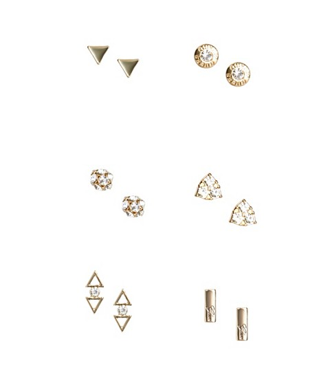 Bijuterii Femei GUESS Gold-Tone Logo Stud Earrings Set gold