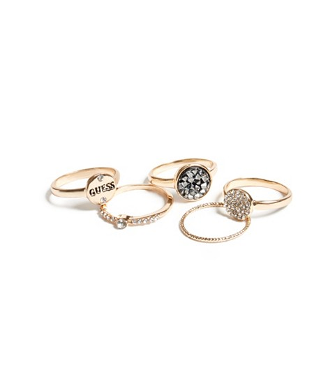 Bijuterii Femei GUESS Gold-Tone Stackable Ring Set gold