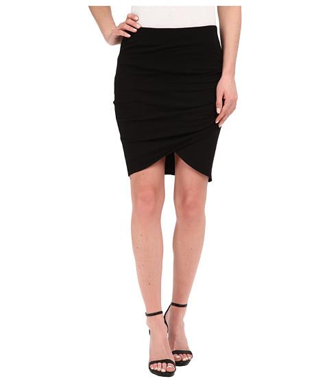 Imbracaminte Femei Michael Stars Cotton Lycra Cross Front Mini Skirt Black