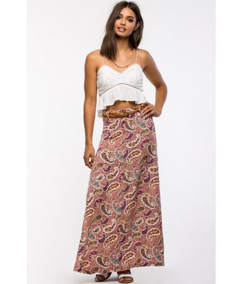 Imbracaminte Femei CheapChic Paisley Belted Maxi Skirt FuchsiaPink Prt