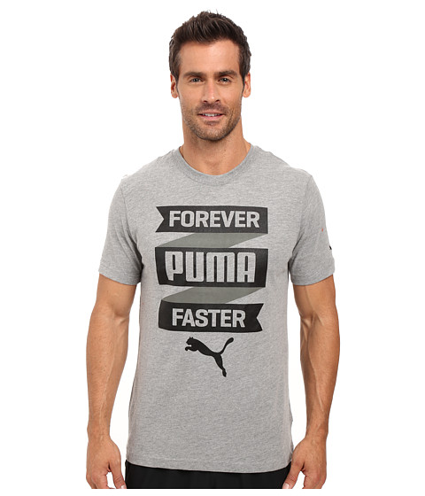 Imbracaminte Barbati PUMA Forever Fast Banner Tee Medium Gray Heather