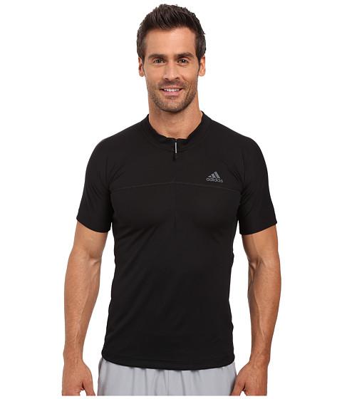 Imbracaminte Barbati adidas 375trade 12 Zip Short Sleeve Tee Black