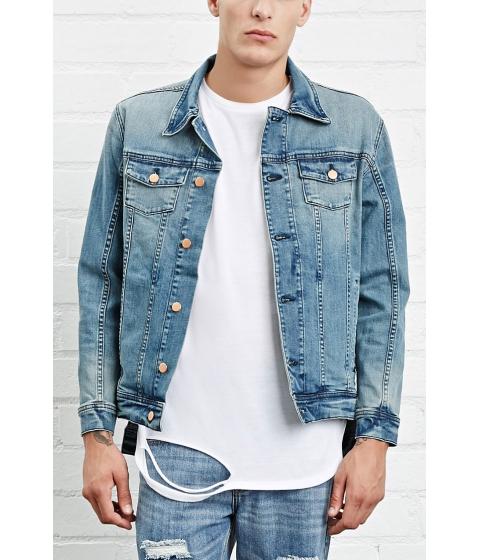 Imbracaminte Barbati Forever21 Entree American Denim Jacket Blue