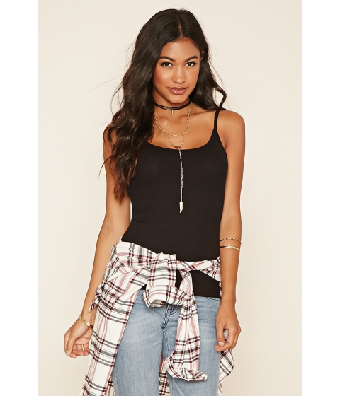 Imbracaminte Femei Forever21 Ribbed Knit Cami Black