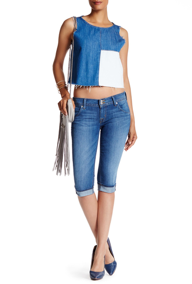 Imbracaminte Femei HUDSON Jeans Malibu Cuffed Capri Jean PALISADES