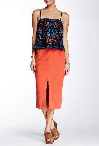 Imbracaminte Femei Free People Easy Breezy Linen Blend Skirt BRIGHT RED