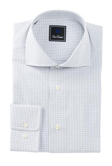 Imbracaminte Barbati David Donahue Long Sleeve Regular Fit Check Dress Shirt GRAY