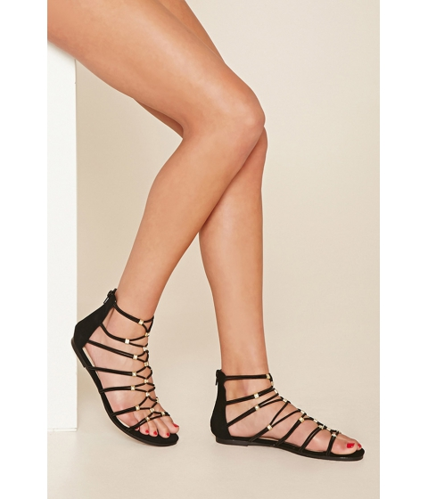 Incaltaminte Femei Forever21 Strappy Gladiator Sandals Tan