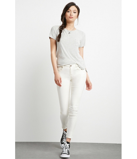 Imbracaminte Femei Forever21 The Sunset Midrise Skinny Jean Ivory