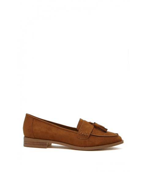 Incaltaminte Femei Forever21 Faux Suede Tasseled Loafers Tan