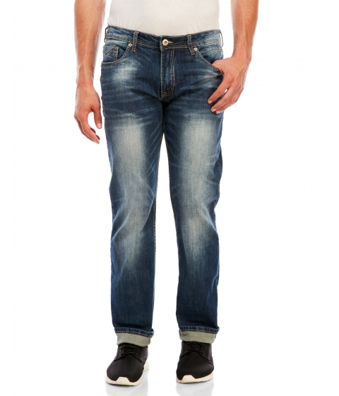 Imbracaminte Barbati Buffalo David Bitton Driven-X Basic Straight Jeans Dark Baked