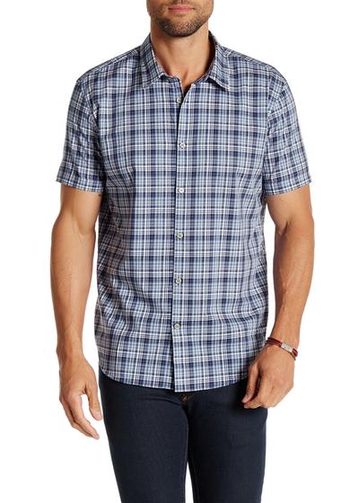 Imbracaminte Barbati Star USA By John Varvatos Short Sleeve Woven Trim Fit Shirt ATLANTIC B