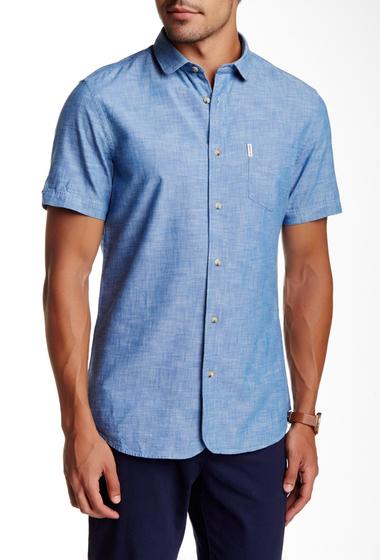 Imbracaminte Barbati Ben Sherman Short Sleeve Slim Fit Chambray Shirt 58POXFORD