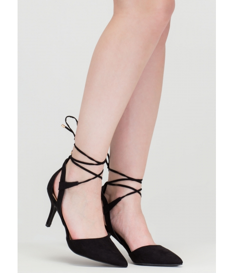 Incaltaminte Femei CheapChic Point Total Cut-out Lace-up Heels Black