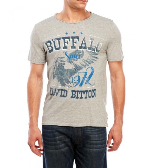 Imbracaminte Barbati Buffalo David Bitton Nisaac Short Sleeve Tee Light Grey