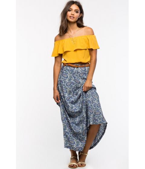 Imbracaminte Femei CheapChic Monaco Belted Maxi Skirt Blue Prt