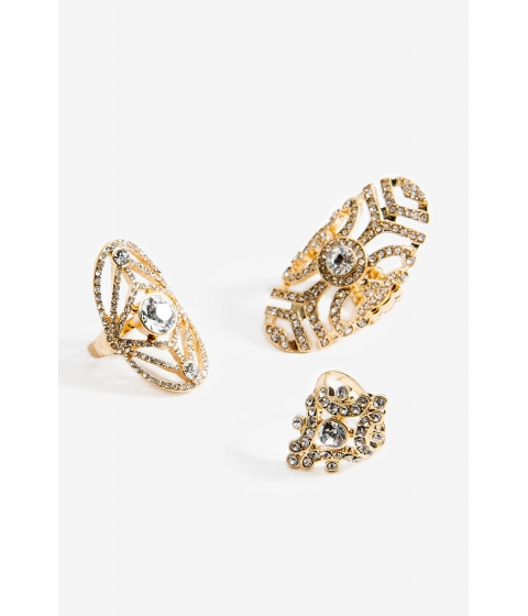Bijuterii Femei CheapChic Novel Filigree 3pc Ring Set Met Gold