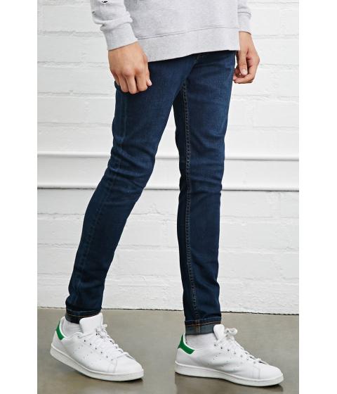 Imbracaminte Barbati Forever21 Clean Wash Skinny Jeans Medium denim