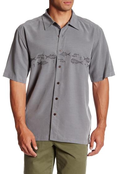 Imbracaminte Barbati Quiksilver Kuta Reef Short Sleeve Regular Fit Shirt KPG0-CARBON