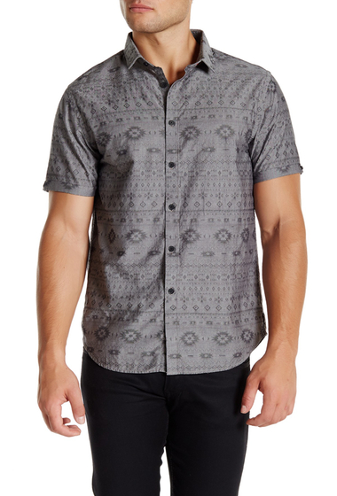 Imbracaminte Barbati Howe Short Sleeve Printed Shirt NIGHT SHAD