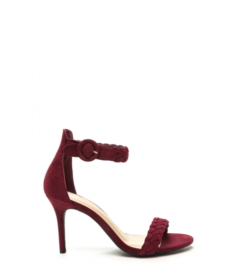 Incaltaminte Femei CheapChic Braid New World Strappy Heels Burgundy