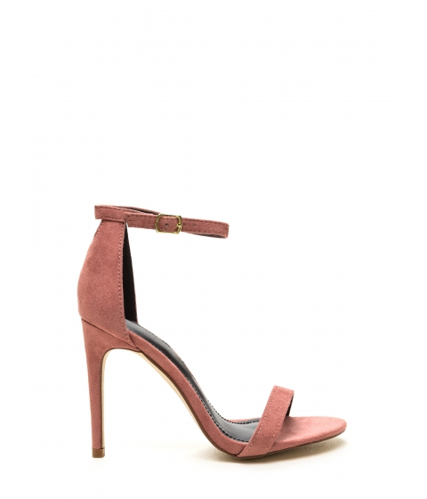 Incaltaminte Femei CheapChic Keyhole To My Heart Faux Suede Heels Blush