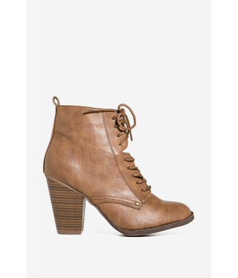 Incaltaminte Femei CheapChic Heather-31 Dazed And Confused Bootie Cognac