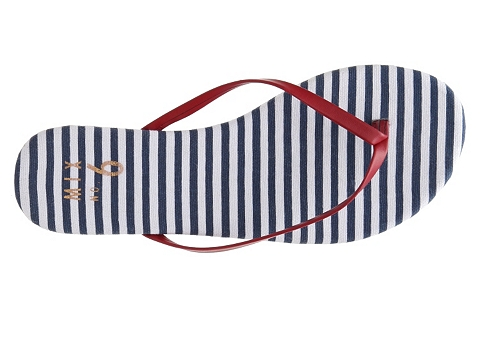 Incaltaminte Femei Mix No 6 Daughety Striped Flip Flop RedWhiteBlue