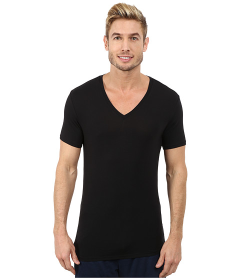 Imbracaminte Barbati Calvin Klein Wide Neck Short Sleeve V-Neck Black