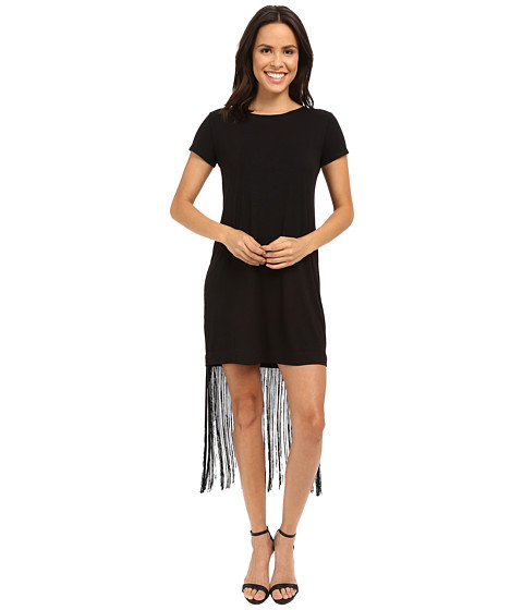 Imbracaminte Femei Brigitte Bailey Adeline Short Sleeve Fringe Dress Black