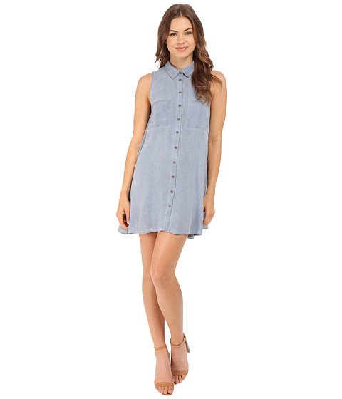 Imbracaminte Femei Brigitte Bailey Embry Button Down Two-Pocket Dress Light Blue