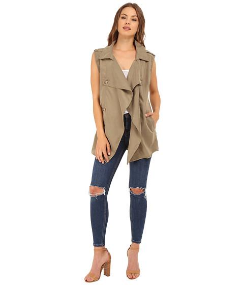 Imbracaminte Femei Brigitte Bailey Isabelle Trench-Style Vest Olive