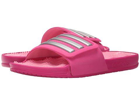 Incaltaminte Femei adidas adissage 20 Stripes Shock PinkMattle SilverPink Glow