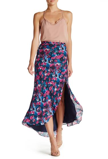 Imbracaminte Femei Haute Hippie Silk Side Slit Hi-Lo Skirt PRINT