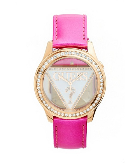 Ceasuri Femei GUESS Pink Logo Watch no color