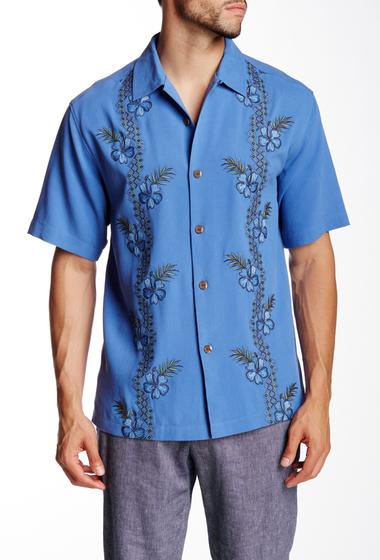 Imbracaminte Barbati Tommy Bahama Strada Vines Short Sleeve Original Fit Silk Shirt BENGAL BLU