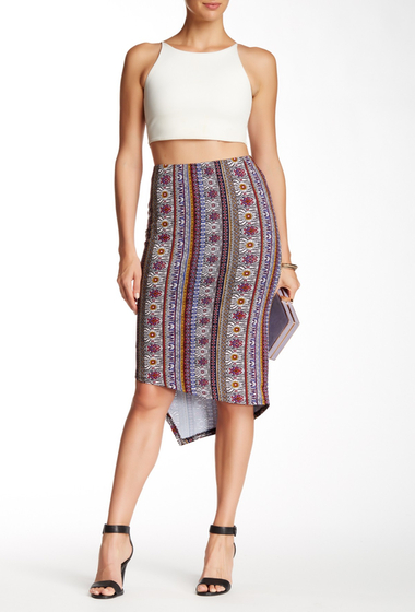 Imbracaminte Femei Bobeau Asymmetrical Skirt ST12561RED