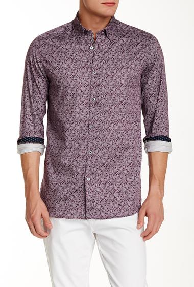 Imbracaminte Barbati Ted Baker London Long Sleeve Floral Print Trim Fit Shirt PURPLE