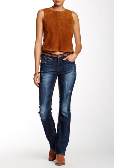 Imbracaminte Femei Seven7 Jeans Thick Stitch Slim Bootcut Jean Maryse