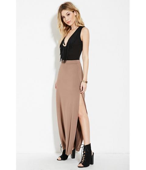 Imbracaminte Femei Forever21 High-Slit Maxi Skirt Pine bark