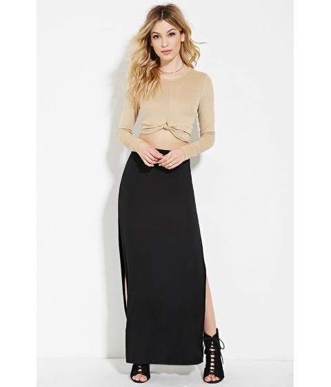 Imbracaminte Femei Forever21 High-Slit Maxi Skirt Black