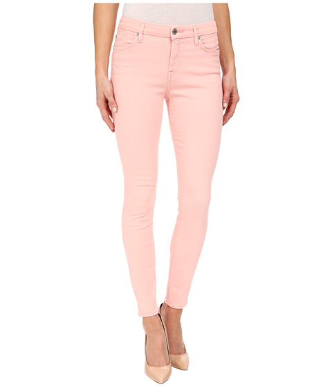 Imbracaminte Femei 7 For All Mankind The Mid Rise Ankle Skinny in Strawberry Ice Strawberry Ice