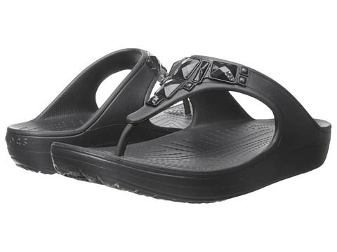 Incaltaminte Femei Crocs Sloane Crystal Flip Black