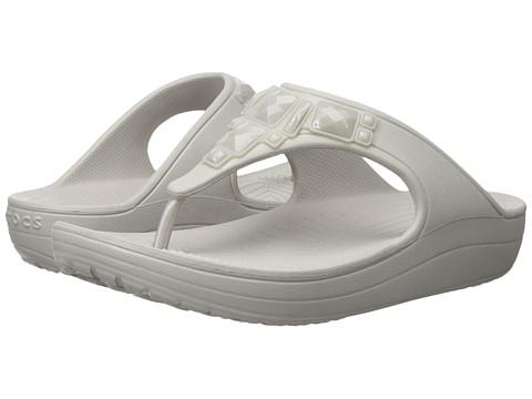 Incaltaminte Femei Crocs Sloane Crystal Flip Platinum
