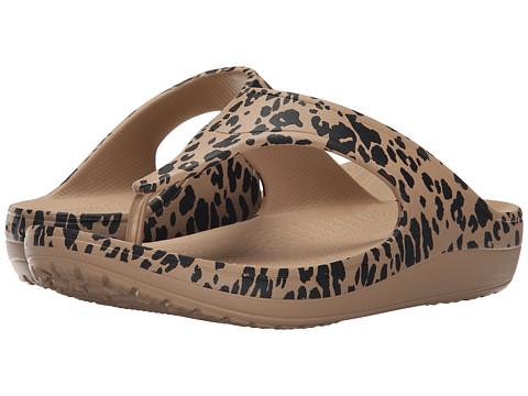 Incaltaminte Femei Crocs Sloane Leopard Print Plarform Gold