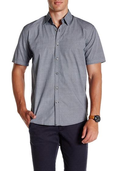 Imbracaminte Barbati James Campbell Elmira Short Sleeve Regular Fit Shirt BLACK