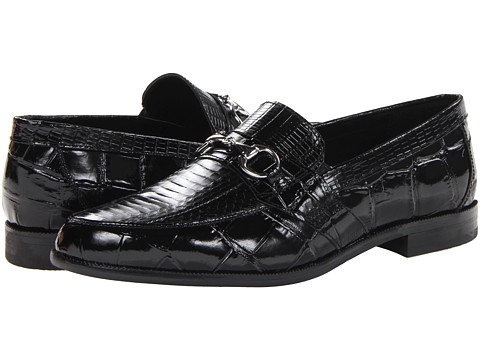 Incaltaminte Barbati Stacy Adams Servino Black Genuine Snake Skin w CorcodileLizard Print