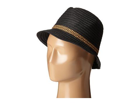 Accesorii Femei San Diego Hat Company PBF7301 Fedora with Pop Inset Black
