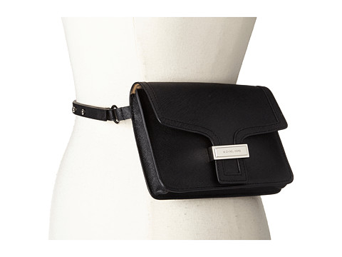 Accesorii Femei MICHAEL Michael Kors 13mm Saffiano Panel Belt Bag Black